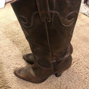 Cowboy Boots (Bronze Color)